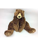 CIRCO STUFFED PLUSH FURRY FLOPPY CHOCOLATE BROWN TEDDY BEAR CORDUROY BIG... - $42.32