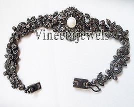 Edwadian Style Victorian Inspir. 5.75Ctw Rose Cut Diamond Tennis Bracele... - $689.65