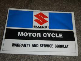1983 83 Suzuki Warranty And Service Shop Service Repair Manual - $44.87