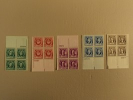 USPS Scott 879-83 American Composers 1940 Lot Of 5 Plate Block 20 Stamps... - $65.91