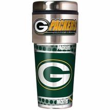 NFL Green Bay Packers 16oz Travel Tumbler with Metallic Wrap NFL Team Mu... - $21.77