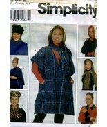 Simplicity Poncho, Wrap, Hats Scarf and Gloves Sewing Pattern # 7839 - $4.93