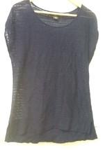 EDDIE BAUER WOMEN'S TOP Lightweight Sweater Navy Blue Cap Sleeve Knit  S... - $12.95