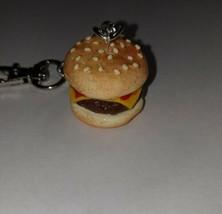 Cheeseburger Charm Keychain Accessory Food Charm Cheeseburger Ketchup - $7.50
