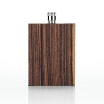 Flask With Lid, Wood Paneled Stainless Steel Liquor Whiskey Small Flask,... - €26,07 EUR