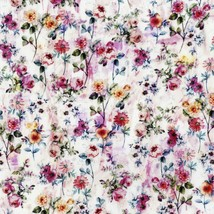 Fleur Couture Digiprint~Sachet Flowers Pink Blush Floral Cotton Fabric b... - $14.20