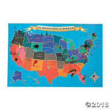 USA Map Sticker Scenes - $12.49