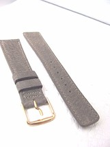 20MM GRAY PECARY SOFT SMOOTH WATCH BAND MADE IN CANADA VINTAGE CUT DESIGN - $15.30