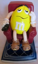 1999 M&M's Yellow Lazy Boy Recliner Candy Dispenser Yellow Peanut Vintag... - $29.69