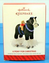 2014 Hallmark A Pony For Christmas Ornament Limited Edition Repaint Horse - $19.75