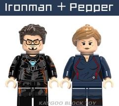 Superhero Compatible Legoinglys Ironman + Pepper Soldier Building Block Toy - $1.75