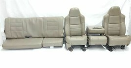 Full Set of Seats Some Wear Super Cab OEM 2008 08 Ford F250SD Pickup R32... - $1,980.00