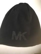 Michael Kors Authentic Black Knit Hat Logo Beanie - £15.92 GBP