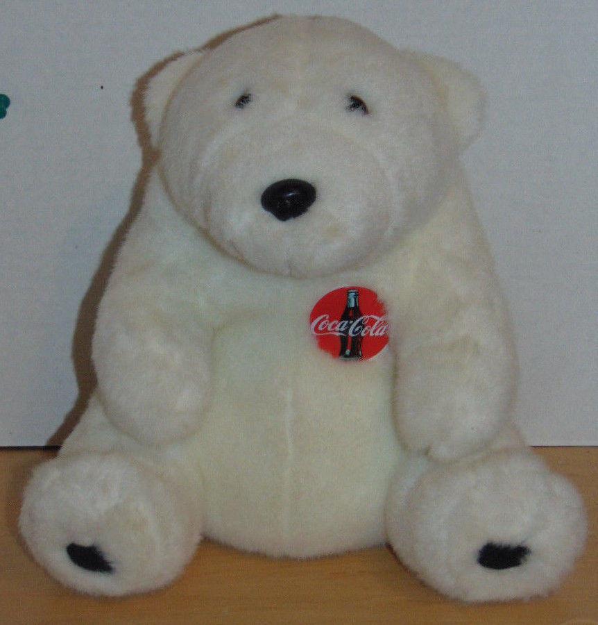 "Coca Cola Vintage 1993 Polar Bear Coca Cola Emblem-11"" Sitting-10"" Wide At Legs"