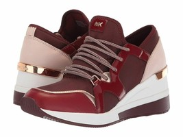 Michael Kors MK Women's Liv Trainer Sneakers Shoes Oxblood New /w Defect Sz 5.5