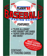 Fleer '92 Baseball Trading Card Packs - $0.69