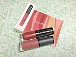 Bare Minerals lip infamous (matte) and rose quartz metallic travel size New - $9.49