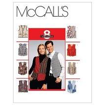 McCall's Patterns M6228 Misses'/Men's Lined Vests, Size XXL - $14.21