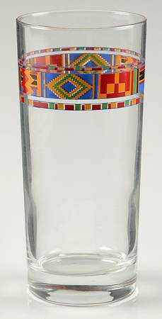 Arcoroc in The Kenti Ashanti pattern High Ball Design Large Glass Tumbler 6 1/4""