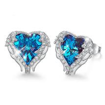 NEW Fashion Women Blue Gray Heart Circle Flower Boho Stud Dangle Earring... - $9.79