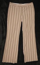 Express Design Studio Editor Brown Mauve Pink Striped Pants Size 2 - $18.51