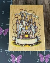 All Night Media Rubber Stamp Castle Bookplate Princess Reading #I16 - $11.87