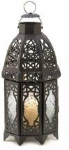 Gifts and Decor Lattice Lantern Candle Holder Home Wedding Decor, Black - $55.93