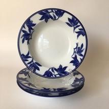 Pier I Import Soup Bowl Ming Porcelain Round Cereal 3 Pcs Set  - $519,70 MXN