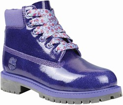 Timberland Grade School (Girls) 6 Inch Premum Waterproof Boots Purple 3391A - $110.59