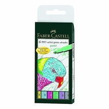 Faber-Castell Pitt Artists Pen Set 6 Pastel - $28.53