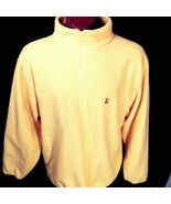 Vintage Nautica Bright Yellow Fleece Made In USA Zippered XL X-Large - $35.70
