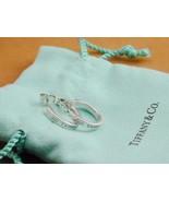 Tiffany & Co 1837 Sterling Narrow Hoop Earrings In Pouch - $249.99