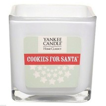 Yankee Candle Cookies For Santa Scented Candle NEW 8.75 square glass cube 2 wick - $12.00