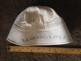 Vtg WW 1 US Navy Dixie Cup Cap Stenciled Name & # - $64.35