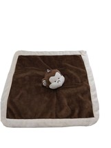 Tiddlywinks Brown Monkey Lovey Security Blanket Baby Toy Size 13 X 13 - $19.59