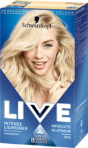 Schwarzkopf Live Hair Dye Intense Lightener Hair Colour Absolute Platinu... - $15.89