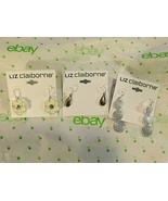 Liz Claiborne Women's Drop Earrings Flowers Round Teardrops 3 Pair All NEW - $39.60
