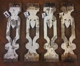 1 Architectural Salvage Gingerbread Porch Baluster Flat Chippy Shabby White