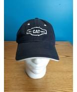 CAT Caterpillar Retro Est. 1904 Tractor Black Strapback Baseball Hat - $9.89