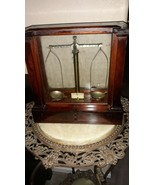 Antique (Voland & Sons?) Jewelry Scale in Wood and Glass Case - $157.41