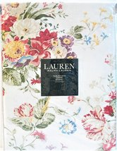 "Ralph Lauren Antibes Floral Red Tablecloth 70"" Round - $39.00"