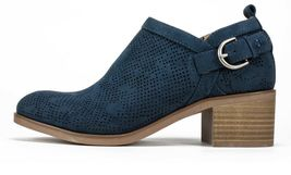 Womens White Mountain Avenue Bootie - Navy/Suedette Size 8 image 3