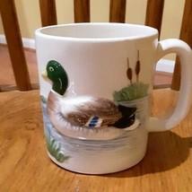 1950's Otagiri Mallard Duck Tall Coffee Mug Excellent Condition Vintage 3D Shape - $24.00