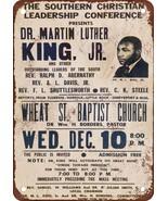 "9"" x 12"" Metal Sign - 1958 Martin Luther King Jr. in Atlanta - $19.95"