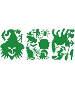 LiteMark Green Removable Witch Pack Assorted Halloween Decorations Decal... - $16.95