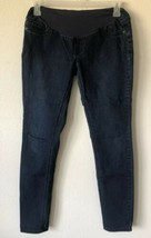 Indigo Blue Maternity Skinny Jeans Size LM Dark Wash Cotton Poly Rayon S... - $17.27