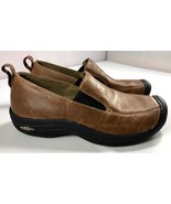 KEEN Womens Brown Leather Loafers Size 6.5 Slip On Shoes 5364 - $59.95
