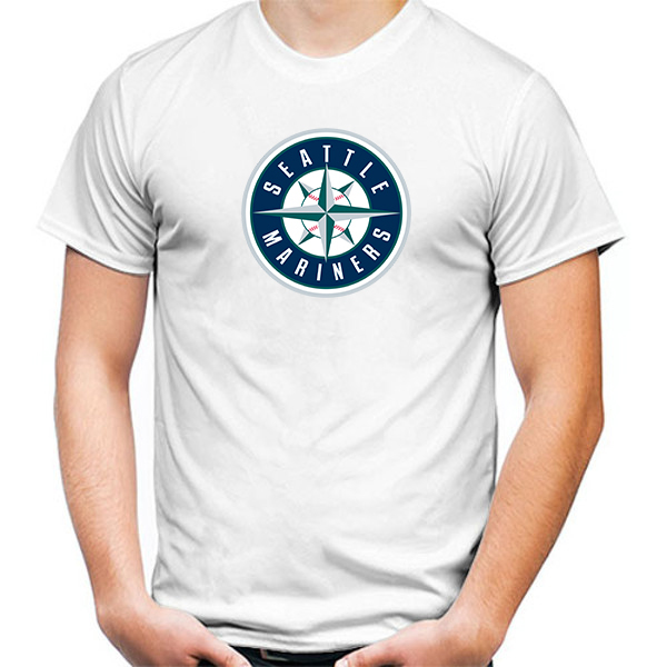Primary image for Seattle Mariners Tshirt White Color Short Sleeve Size S-3XL