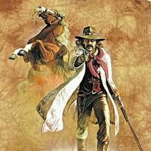 Mountain Cowboy Horse T Shirt Tee M Brown Western Adams 2002 - $39.59