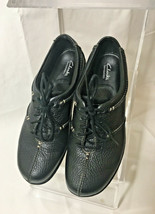 Clarks Leather Shoes Women's 7 M Black Lace-Up Bendables Comfort - $27.09